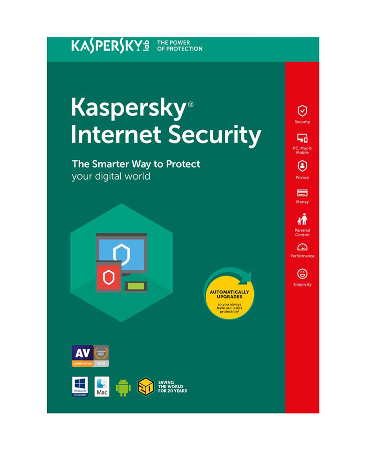 KASPERSKY Internet Security 2018, 1 Άδεια, 1 έτος, English - KASPERSKY 18446