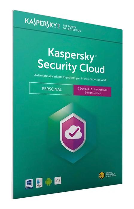 KASPERSKY Security Cloud, 5 συσκευές, 1 χρήστης, 1 έτος, English - KASPERSKY 33915