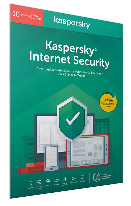 KASPERSKY Internet Security KL1939U5KFS-20FFPDSG, 10 συσκευές 1 έτος, EU - KASPERSKY 34409