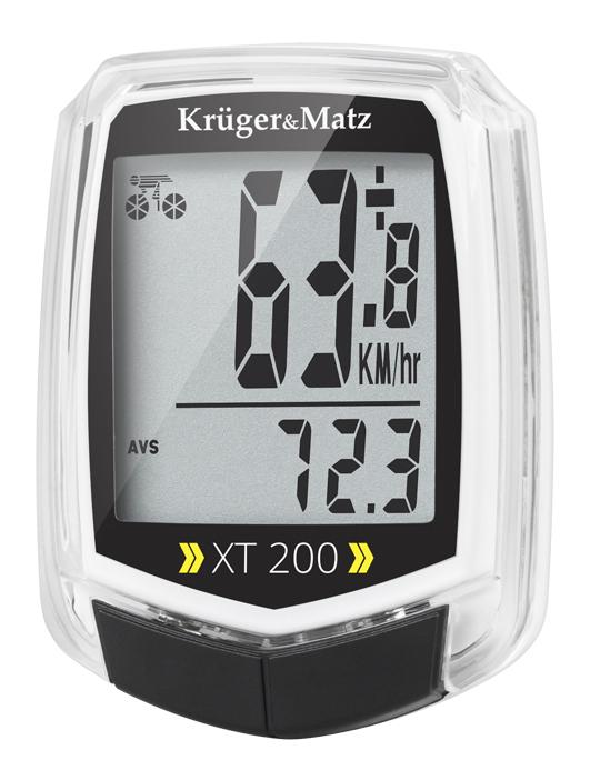 KRUGER&MATZ ηλεκτρονικό ταχύμετρο XT 200 KM0075, 2 users, αδιάβροχο - KRUGER&MΑΤΖ 27318