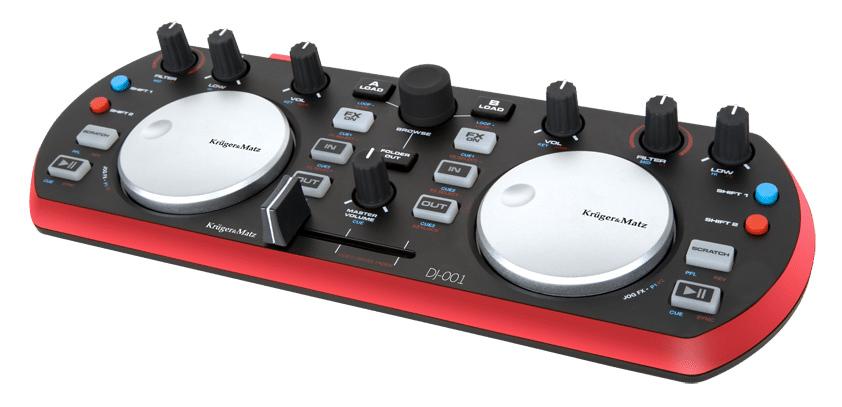 KRUGER&MATZ DJ Controller KMDJ001, μαύρο-κόκκινο - KRUGER&MΑΤΖ 35196