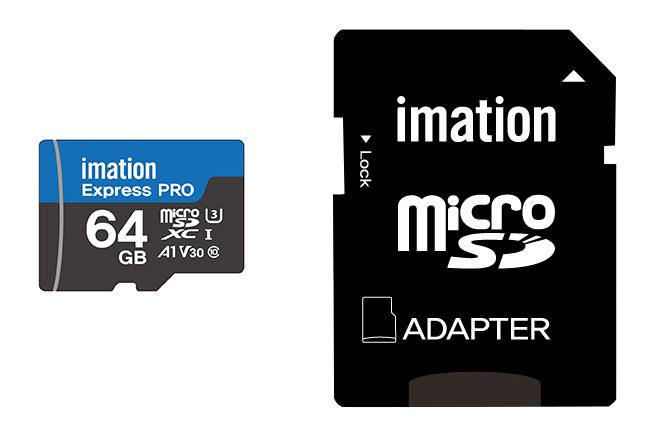 IMATION κάρτα μνήμης MicroSDXC UHS-3, 64GB, Read 90MB/s, Class 10 - IMATION 27382