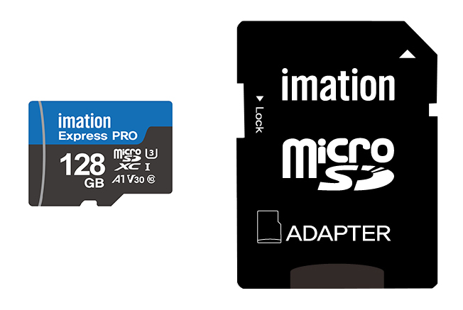 IMATION κάρτα μνήμης MicroSDXC UHS-3, 128GB, Read 90MB/s, Class 10 - IMATION 27383