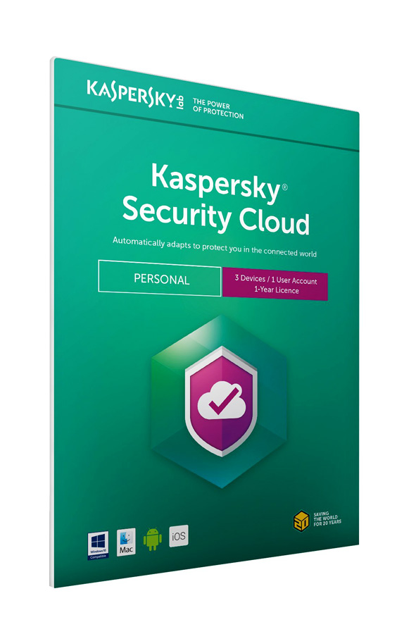 KASPERSKY Security Cloud, 3 συσκευές, 1 χρήστης, 1 έτος, English - KASPERSKY 18449