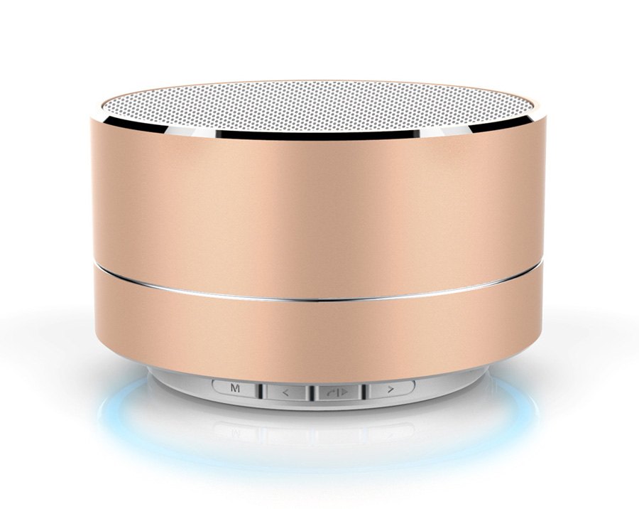 KISONLI Ηχείο LED-804, Bluetooth/SD/Aux/USB/FM, LED, Handsfree Rose Gold - KISONLI 20136