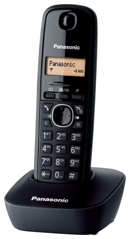 PANASONIC ασύρματο τηλέφωνο με ελληνικό μενού, μαύρο - PANASONIC 1301