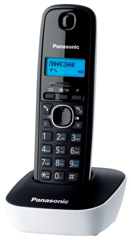PANASONIC ασύρματο τηλέφωνο με ελληνικό μενού, μαύρο-άσπρο - PANASONIC 1302
