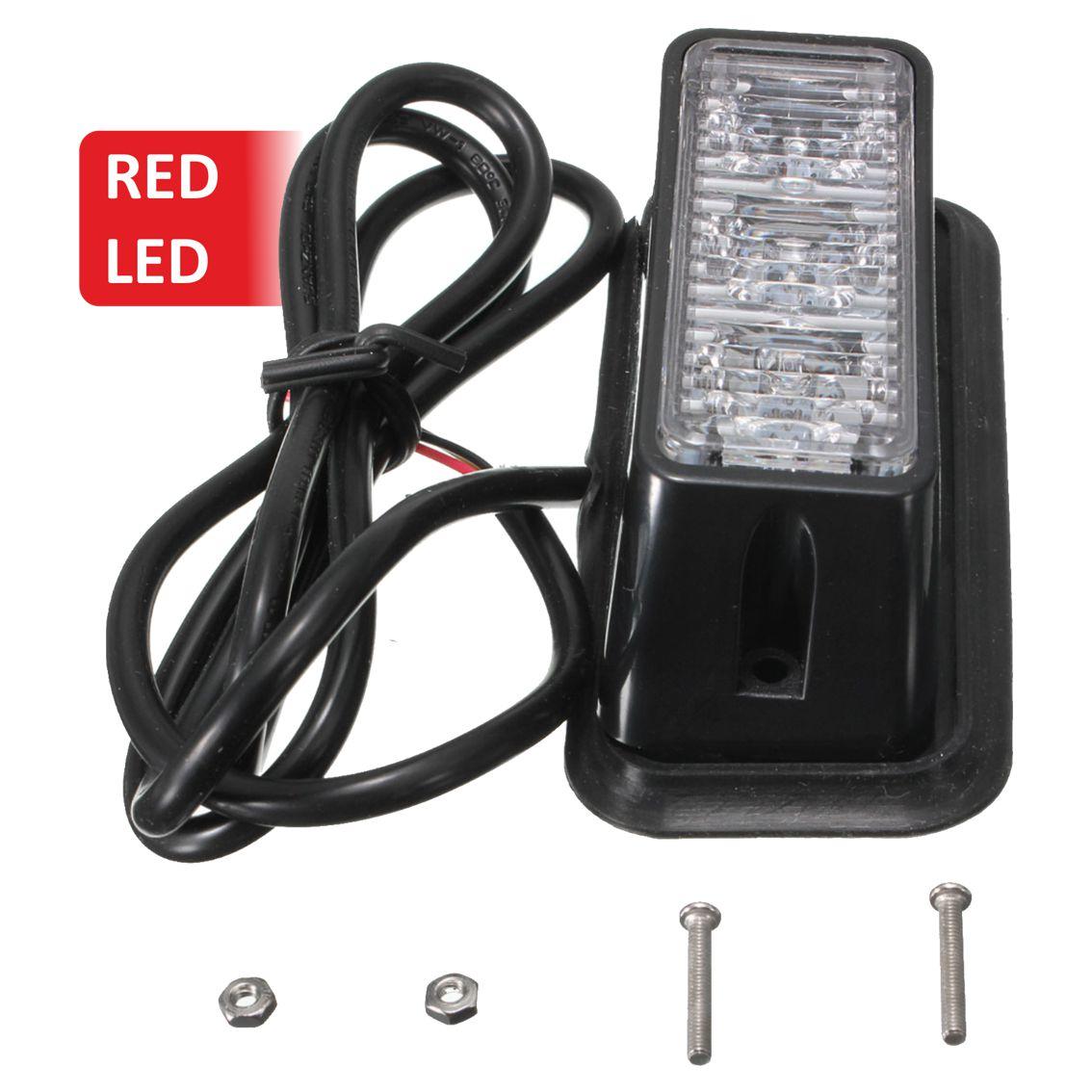 Strobe υψηλής φωτεινότητας με τρία POWER LED, GEN III, Κόκκινο χρώμα - UNBRANDED 11447