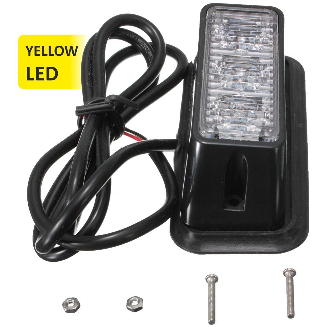 Strobe υψηλής φωτεινότητας με τρία POWER LED, GEN III, Κίτρινο χρώμα - UNBRANDED 11449