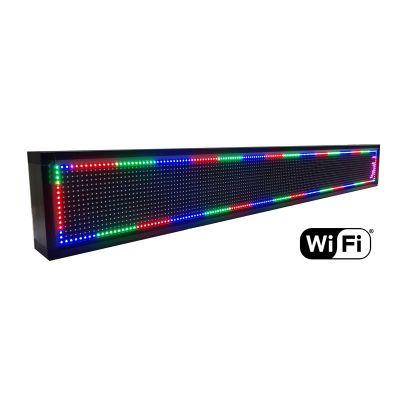 Ηλεκτρονική πινακίδα κυλιόμενων μηνυμάτων, WiFi, 165x23cm, RGB LED - UNBRANDED 18424
