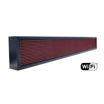 Ηλεκτρονική πινακίδα κυλιόμενων μηνυμάτων, WiFi, 165x23cm, κόκκινο - UNBRANDED 18422