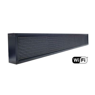 Ηλεκτρονική πινακίδα κυλιόμενων μηνυμάτων, WiFi, 165x23cm, λευκό - UNBRANDED 18423