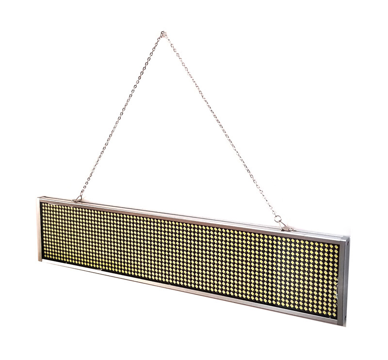 Ηλεκτρονική πινακίδα κυλιόμενων μηνυμάτων, 44x9.3x1.5cm, λευκό - UNBRANDED 18428