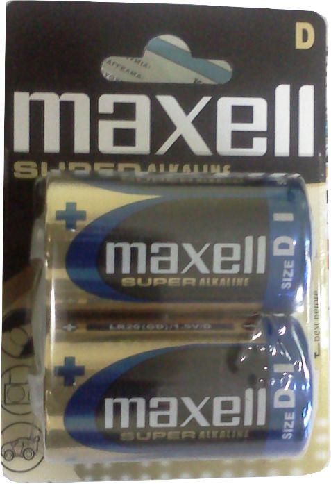 MAXELL SUPER Αλκαλική μπαταρία LR20, 1,5V 2τεμ. - MAXELL 1705
