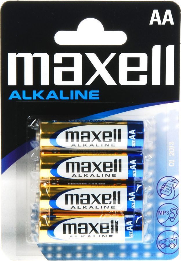 MAXELL Αλκαλικές μπαταρίες μεγέθους AA Συσκευασία μπλίστερ 4 τεμαχίων - MAXELL 1664
