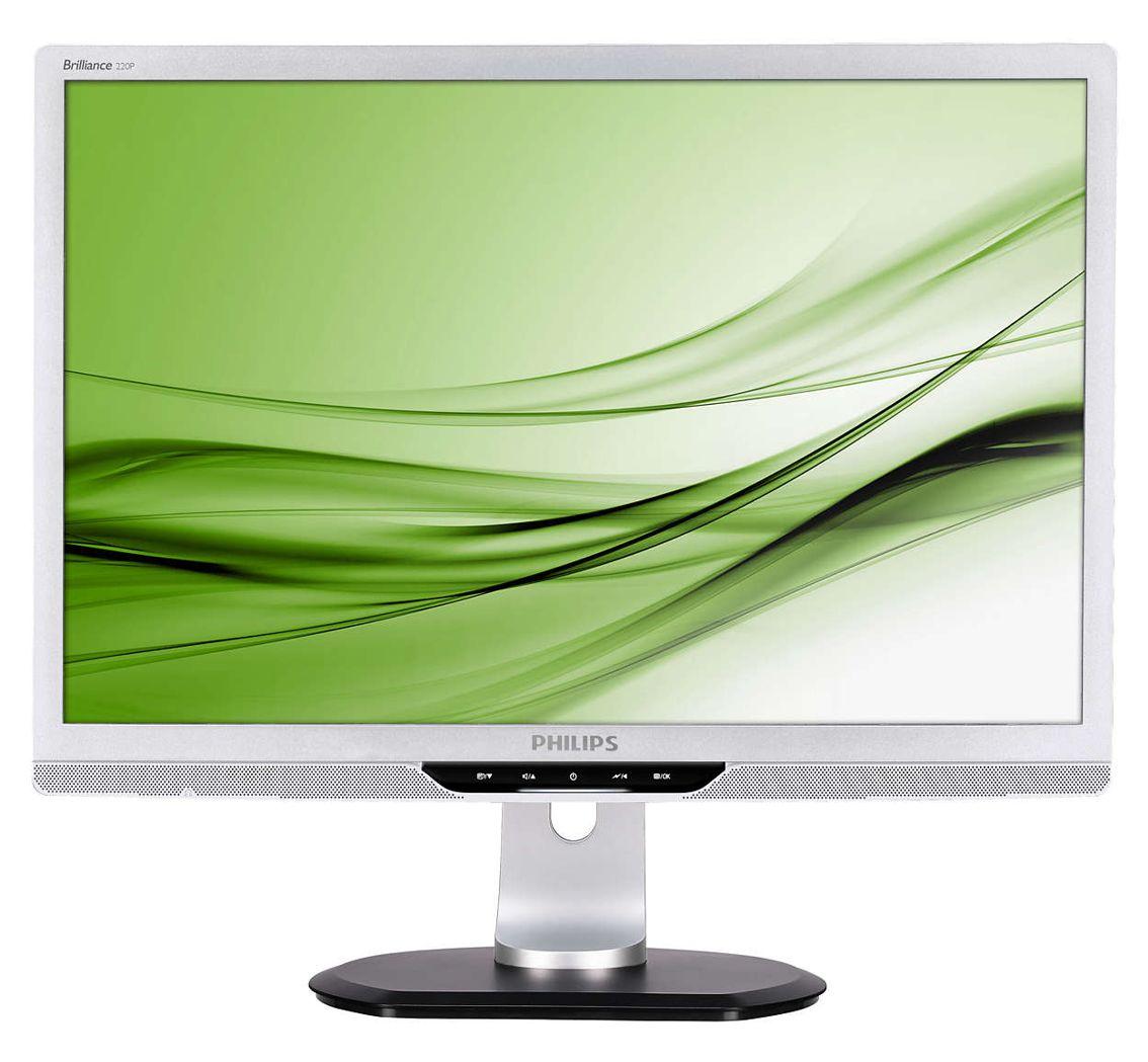"""PHILIPS used οθόνη 220P2 LCD, 22"""" 1680x1050p, VGA/DVI-D, με ηχεία, FQ - PHILIPS 28527"""
