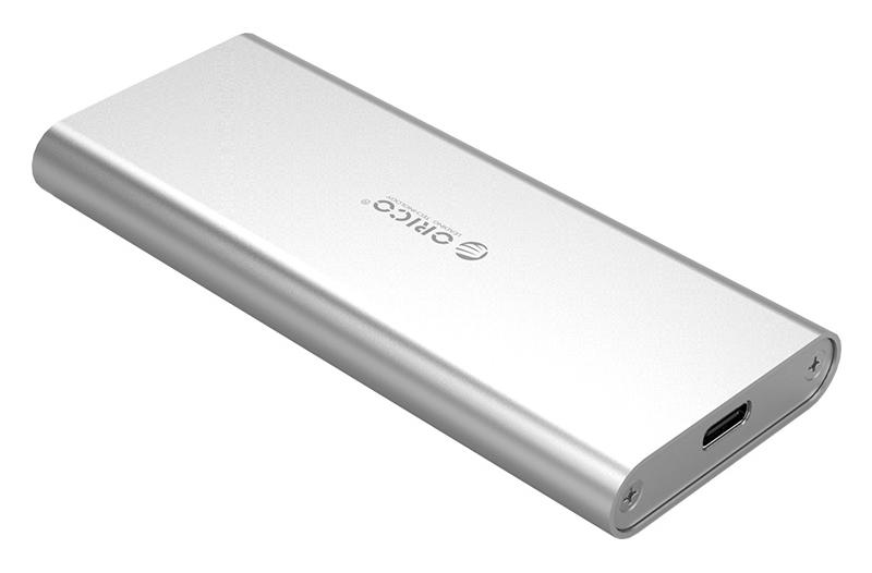 ORICO θήκη για Μ.2 B key SSD M2G-C3, USB 3.1, 5Gbps, 2TB, ασημί - ORICO 37190