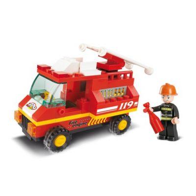 SLUBAN Τουβλάκια Town, Fire Truck M38-B0173, 74τμχ - SLUBAN 17928