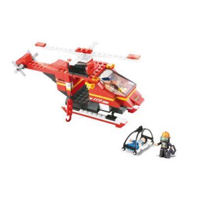 SLUBAN Τουβλάκια Fire, Rescue Helicopter M38-B0218, 155τμχ - SLUBAN 17936