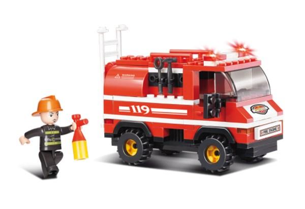 SLUBAN Τουβλάκια Fire, Fire Truck M38-B0276, 133τμχ - SLUBAN 17940