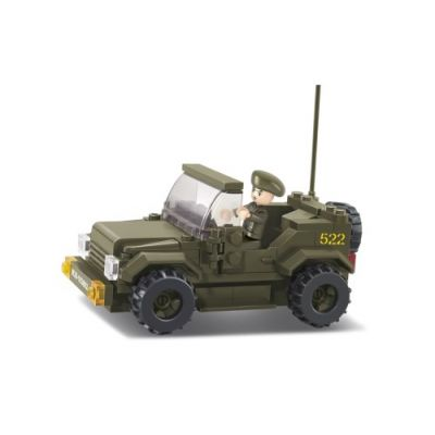 SLUBAN Τουβλάκια Army, Jeep M38-B0296, 121τμχ - SLUBAN 17943