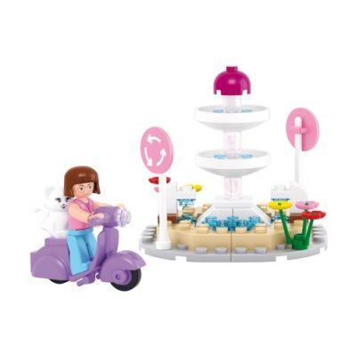 SLUBAN Τουβλάκια Girls Dream, Fountain M38-B0519, 79τμχ - SLUBAN 17961