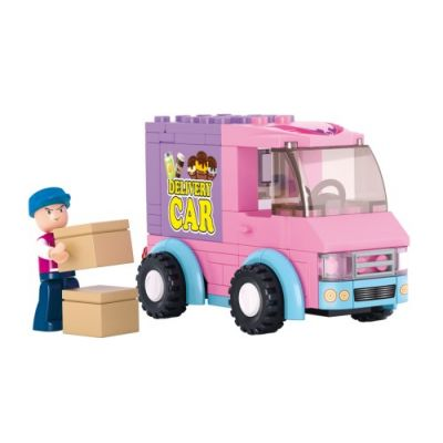 SLUBAN Τουβλάκια Girls Dream, Delivery Van M38-B0520, 102τμχ - SLUBAN 17962