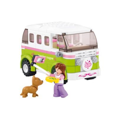 SLUBAN Τουβλάκια Girls Dream, Camper M38-B0523, 158τμχ - SLUBAN 17965