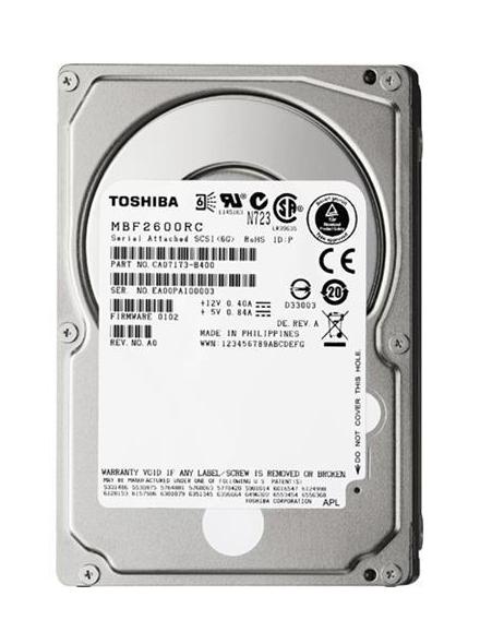 "TOSHIBA used SAS HDD MBF2600RC 600GB, 6G, 10K, 2.5"" - TOSHIBA 13434"
