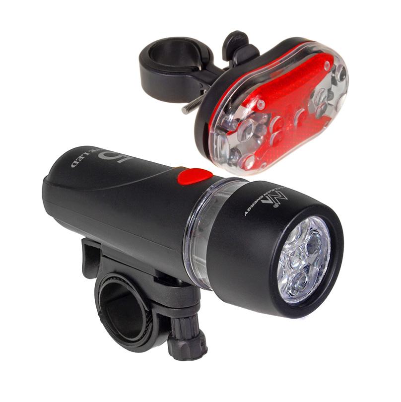 MACLEAN ENERGY Σετ φωτισμού ποδηλάτου MCE38, μαύρο - MACLEAN ENERGY 21560