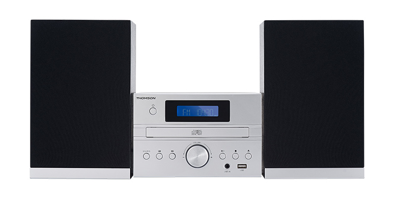 THOMSON HI-FI System MIC122BT, bluetooth, FM/CD/MP3/USB, 50W, ασημί - THOMSON 18521
