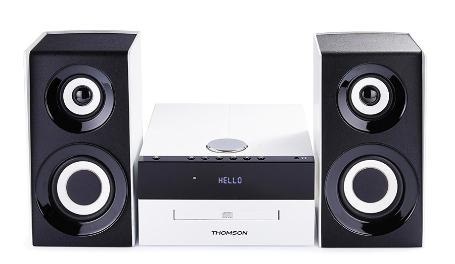 THOMSON HI-FI System MIC301BT, bluetooth, FM/CD/MP3/USB, 75W, λευκό - THOMSON 18512