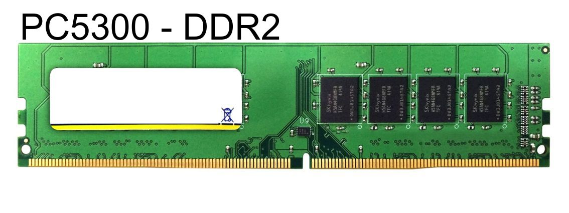 MAJOR used RAM U-Dimm μνήμη (Desktop) DDR2, 1GB PC5300 - BULK 7162