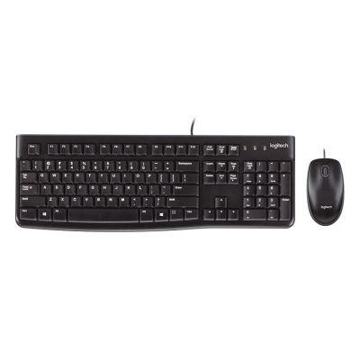 LOGITECH set ποντίκι & πληκτρολόγιο MK120, ενσύρματα, μαύρα - LOGITECH 23037