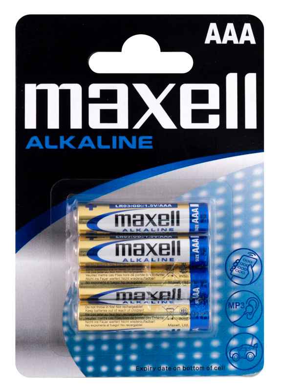 MAXELL αλκαλικές μπαταρίες AAA LR03 MN2400, 1.5V, 4τμχ - MAXELL 42113