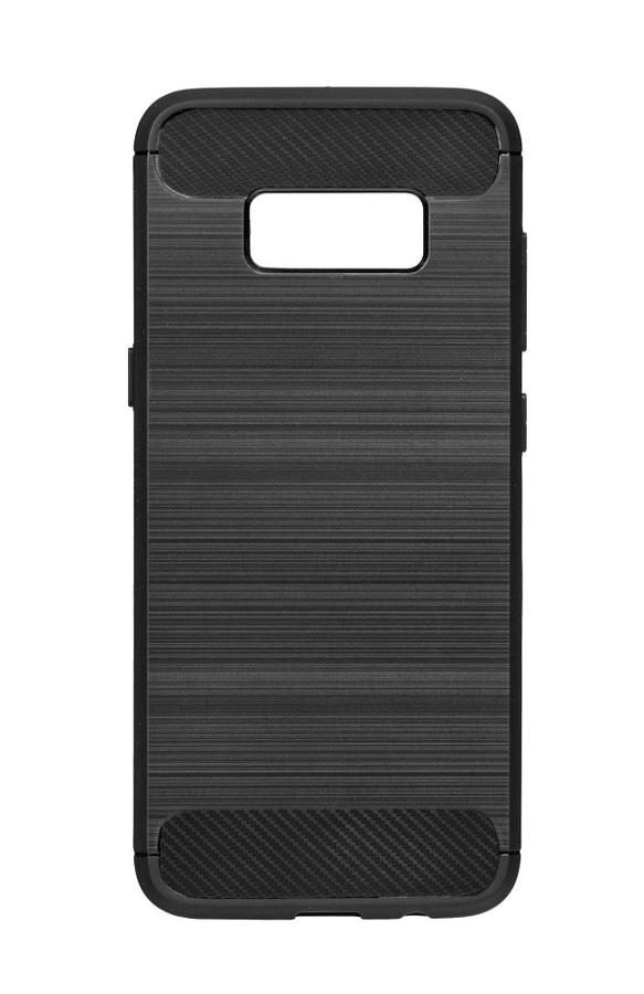 POWERTECH Θήκη Carbon Flex για Samsung Galaxy S9 Plus, μαύρη - POWERTECH 19083