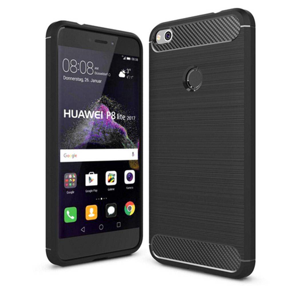 POWERTECH Θήκη Carbon Flex για Huawei P9/P8 Lite 17, Honor 8 Lite, μαύρη - ROSWHEEL 19096