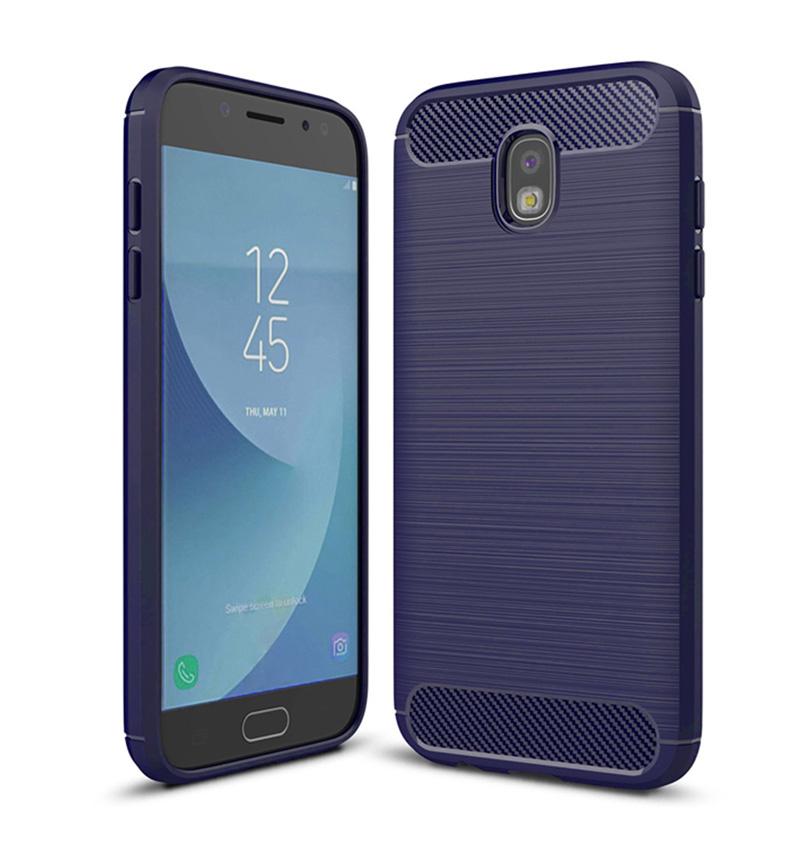 POWERTECH Θήκη Carbon Flex για Samsung Galaxy J3 2017, μπλε - ROSWHEEL 19098