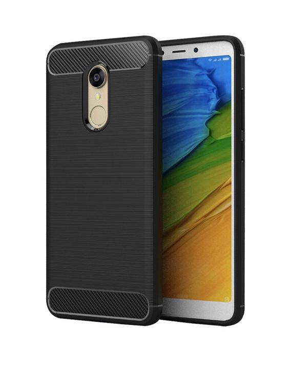 POWERTECH Θήκη Carbon Flex για Xiaomi Redmi 5 Plus, μαύρη - POWERTECH 21511