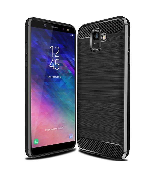 POWERTECH Θήκη Carbon Flex για Samsung A6 2018, μαύρη - POWERTECH 21512