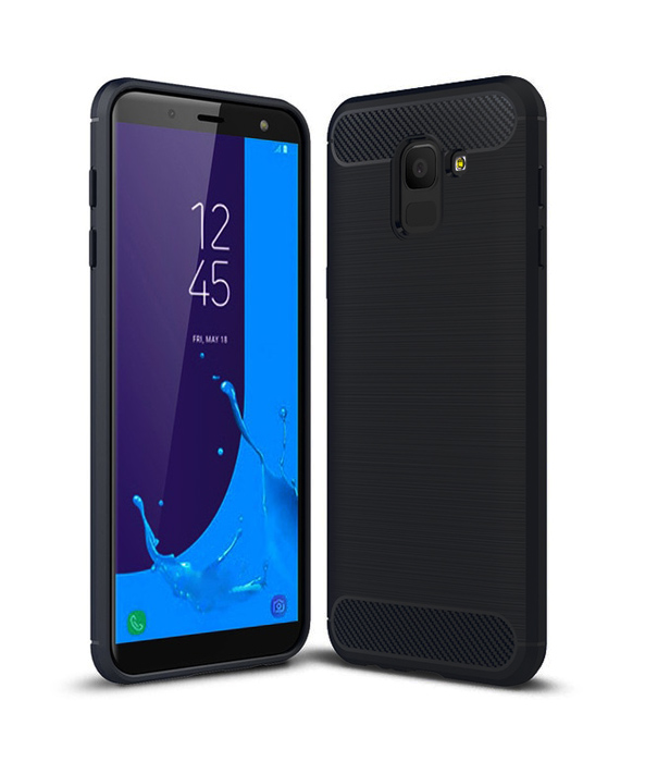 POWERTECH Θήκη Carbon Flex για Samsung J6 2018, μαύρη - POWERTECH 21513