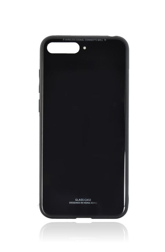 POWERTECH Θήκη Silicone Glass για Huawei Y6 2018, μαύρη - POWERTECH 21517