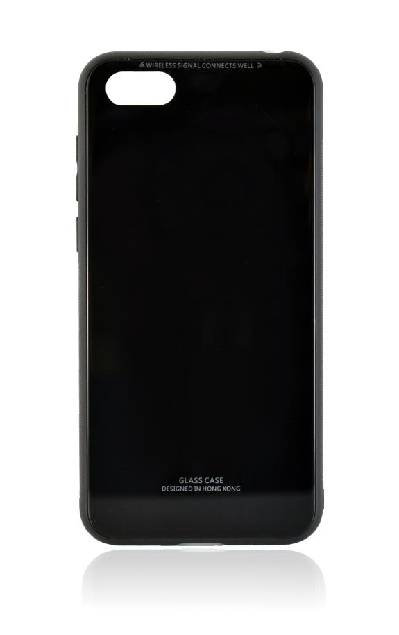 POWERTECH Θήκη Silicone Glass για Huawei Y5 2018, μαύρη - POWERTECH 21518