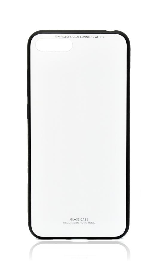 POWERTECH Θήκη Silicone Glass για Huawei Y5 2018, λευκή - POWERTECH 21519