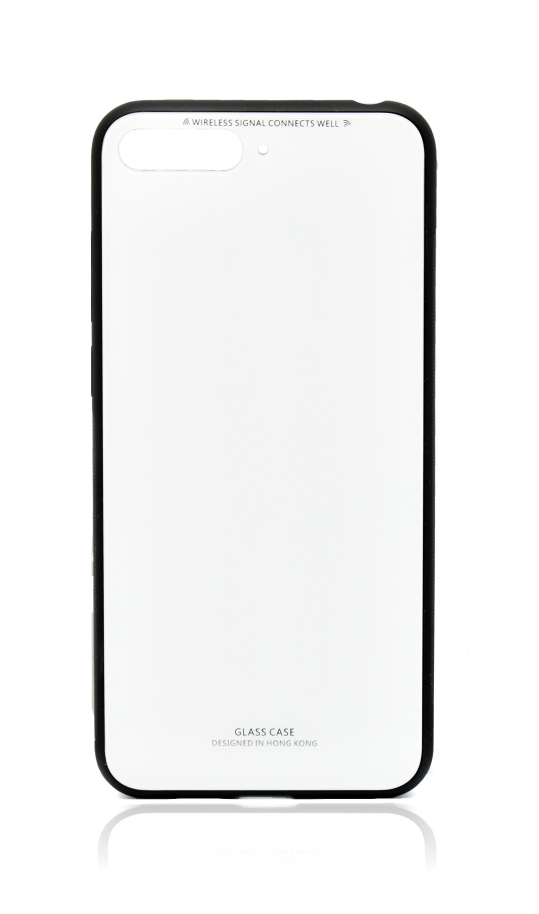 POWERTECH Θήκη Silicone Glass για Huawei Y6 2018, λευκή - POWERTECH 21520