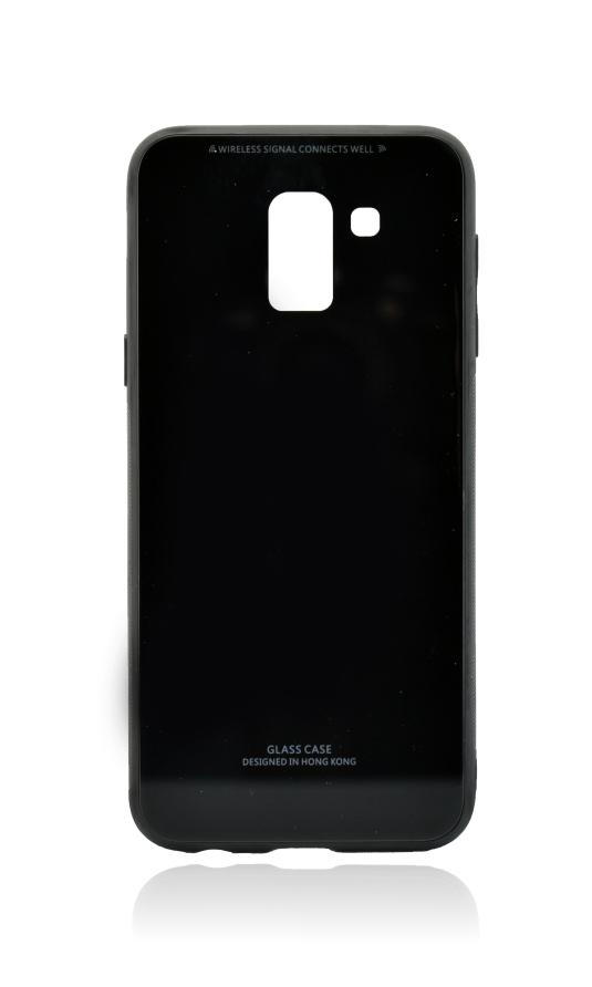POWERTECH Θήκη Silicone Glass για Samsung J6 2018, μαύρη - POWERTECH 21521