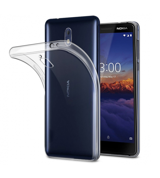 POWERTECH Θήκη Ultra Slim για Nokia 3.1, διάφανη - POWERTECH 22206