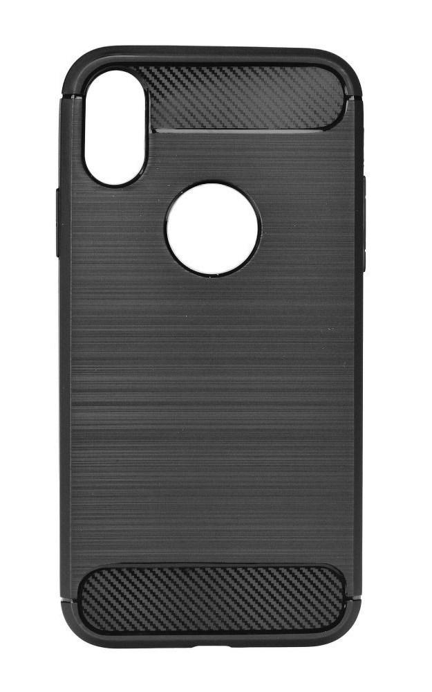 POWERTECH Θήκη Carbon Flex για iPhone XS, μαύρη - POWERTECH 22213