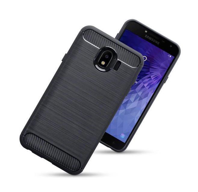 POWERTECH Θήκη Carbon Flex για Samsung J4 2018, μαύρη - POWERTECH 22215