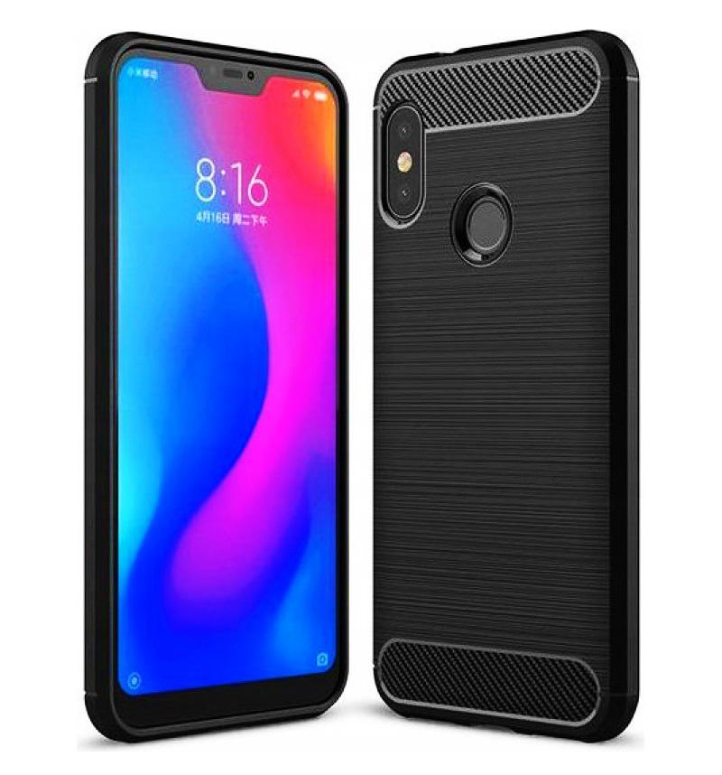 POWERTECH Θήκη Carbon Flexible, Xiaomi Mi A2 Lite/Redmi 6 Pro, μαύρη - POWERTECH 23460